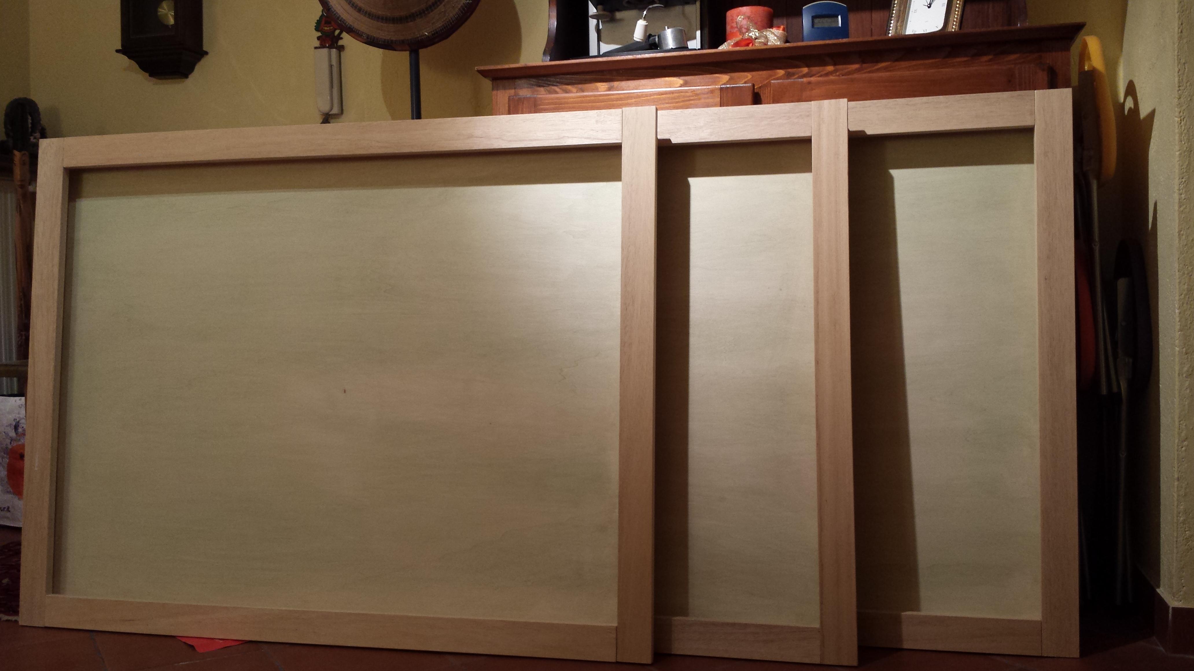 Cornici in legno e plexiglass
