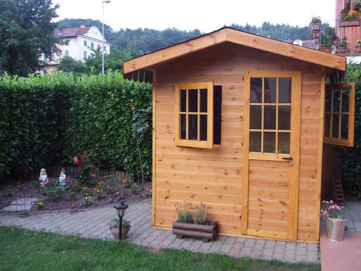 Casetta porta attrezzi in legno fai da te fardasefapertre for Costruire una semplice capanna di legno